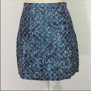 P.A.R.O.S.H  Gorgeous sequins and beaded miniskirt